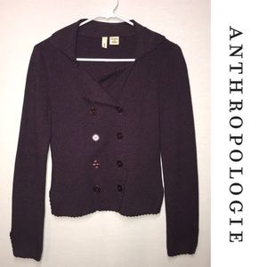 Anthro Moth Double Breasted Cardigan Sweater M